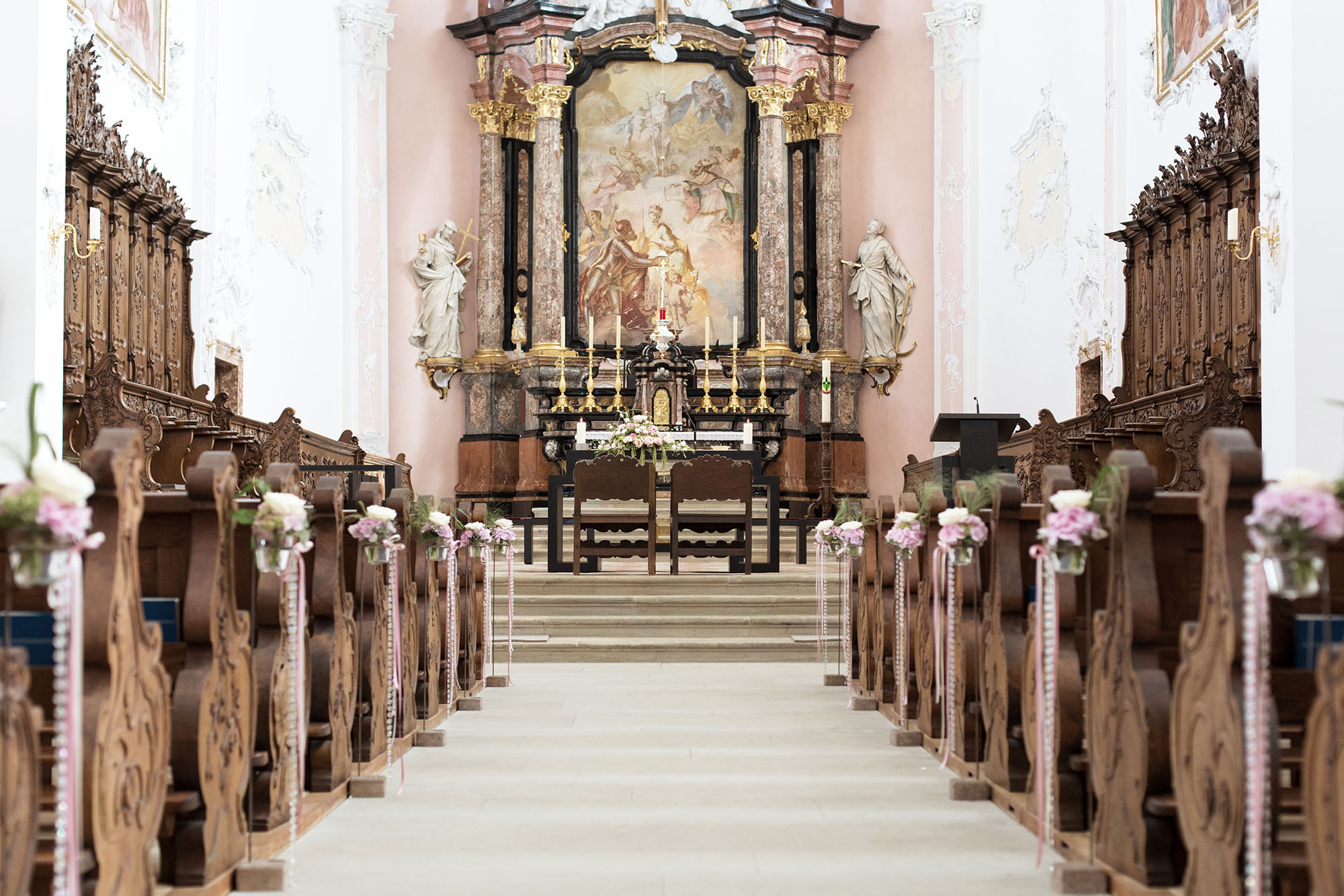 Dekoration in der Kirche in Arlesheim