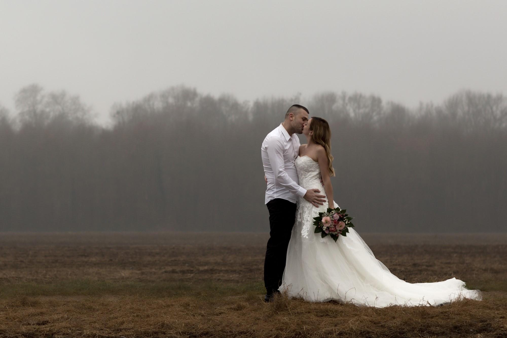 Brautpaar Fotoshooting im Winter