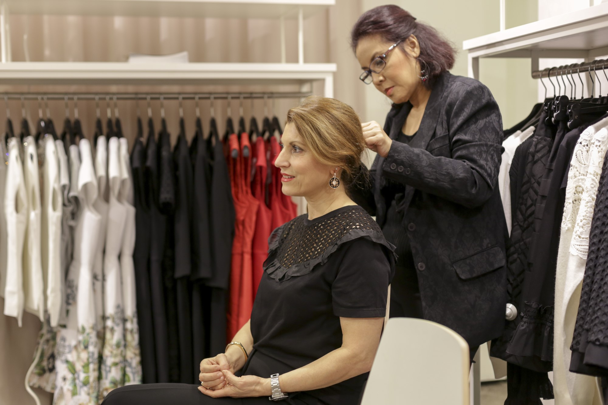Hair Styling beim PKZ Event in Basel