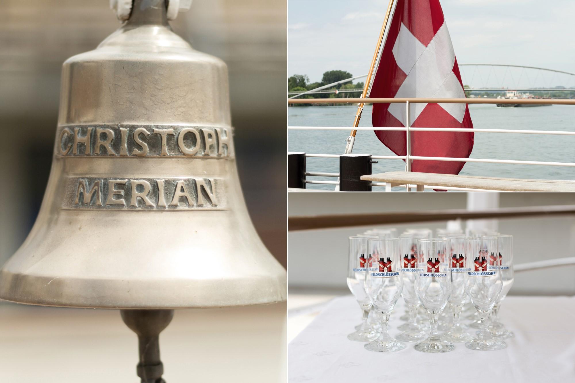 Detail Bilder von der MS Christoph Merian Hochzeit