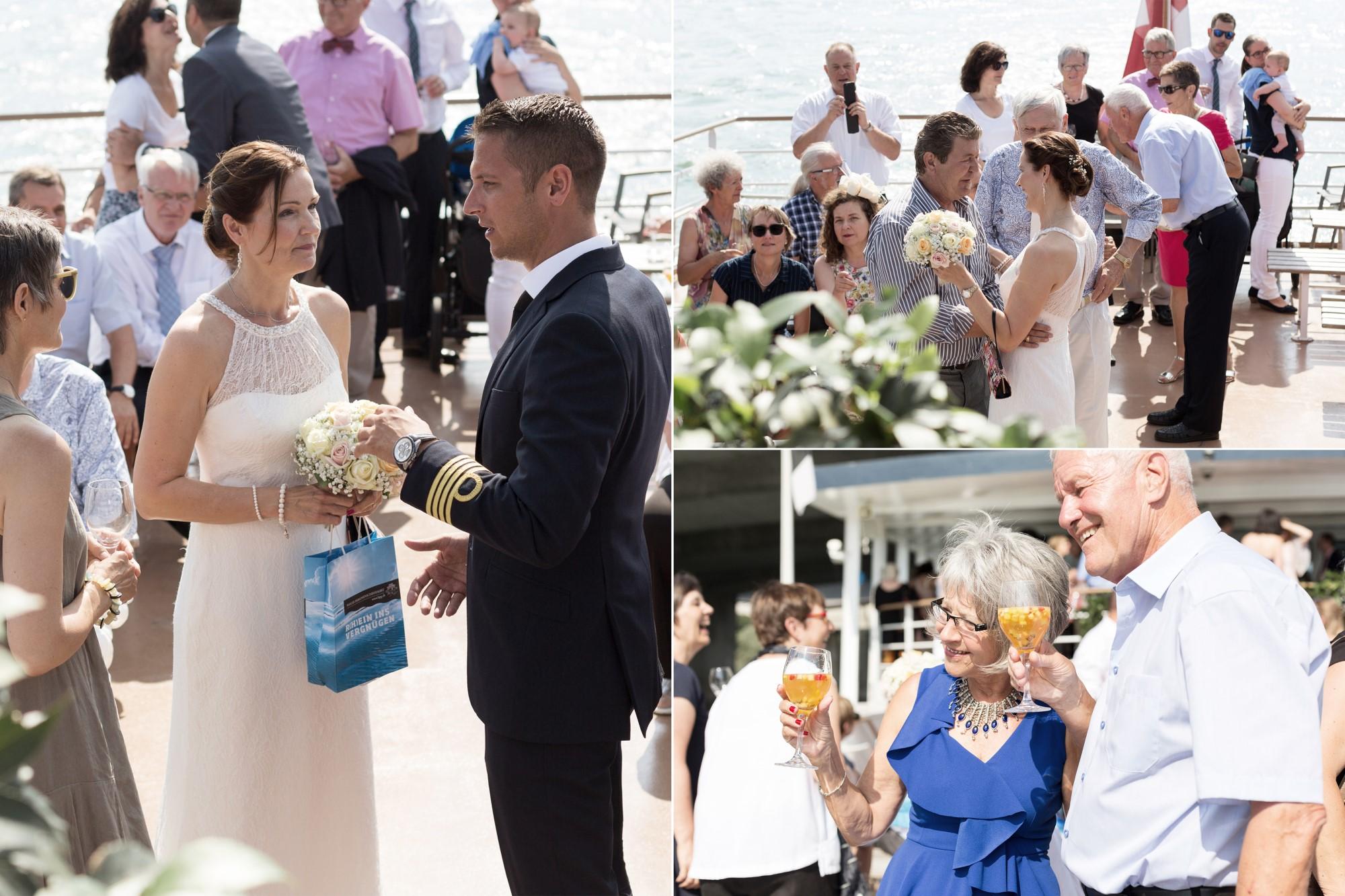 Der Kapitän gratuliert der Braut