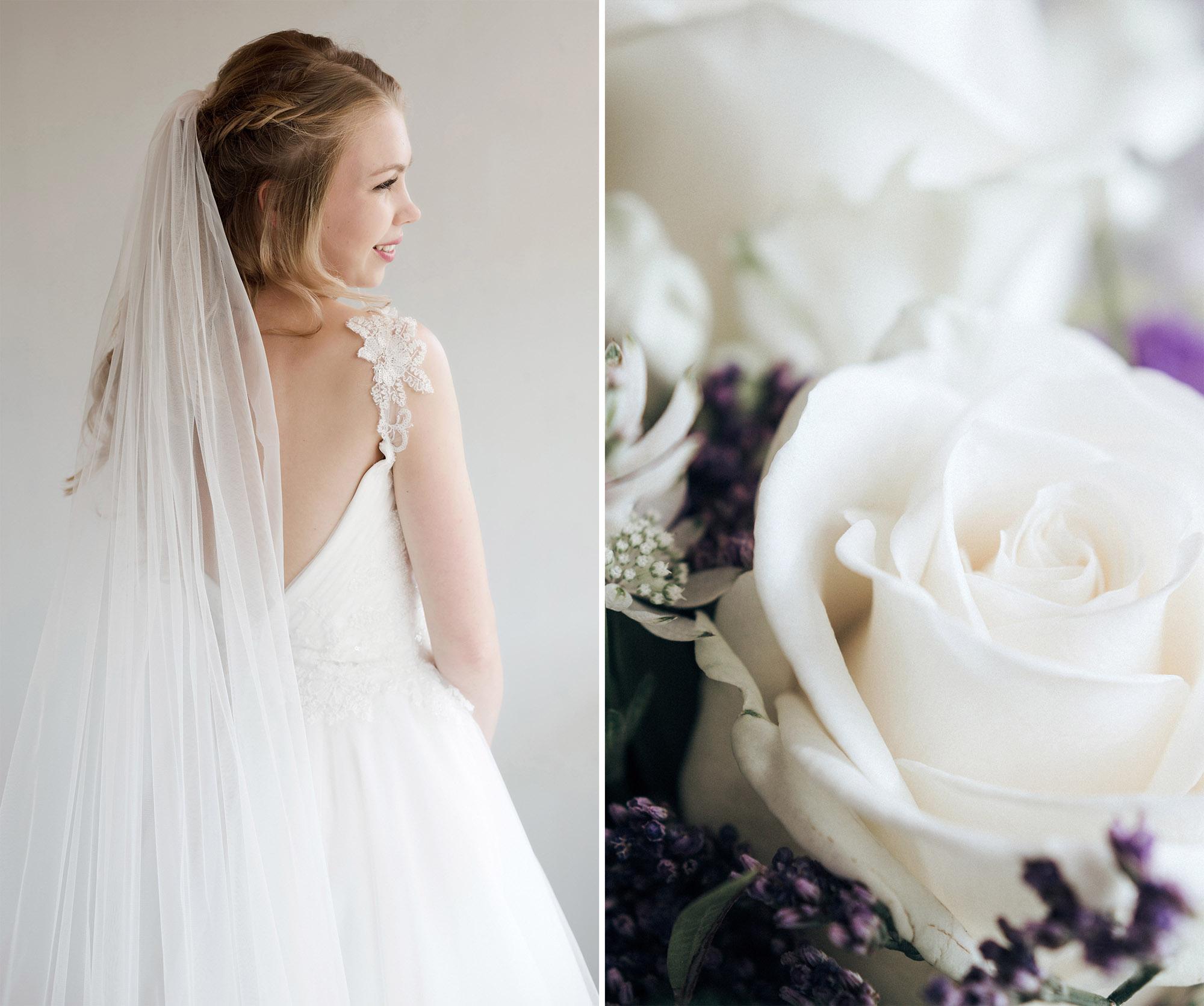 Die Braut und der Brautstrauss