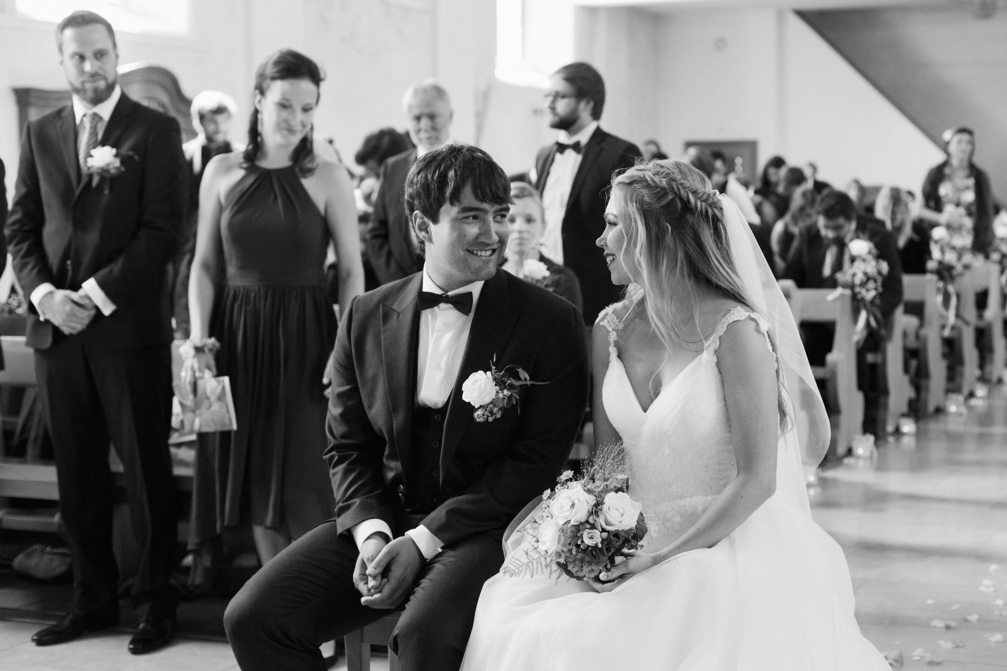 Das Brautpaar in der Kirche
