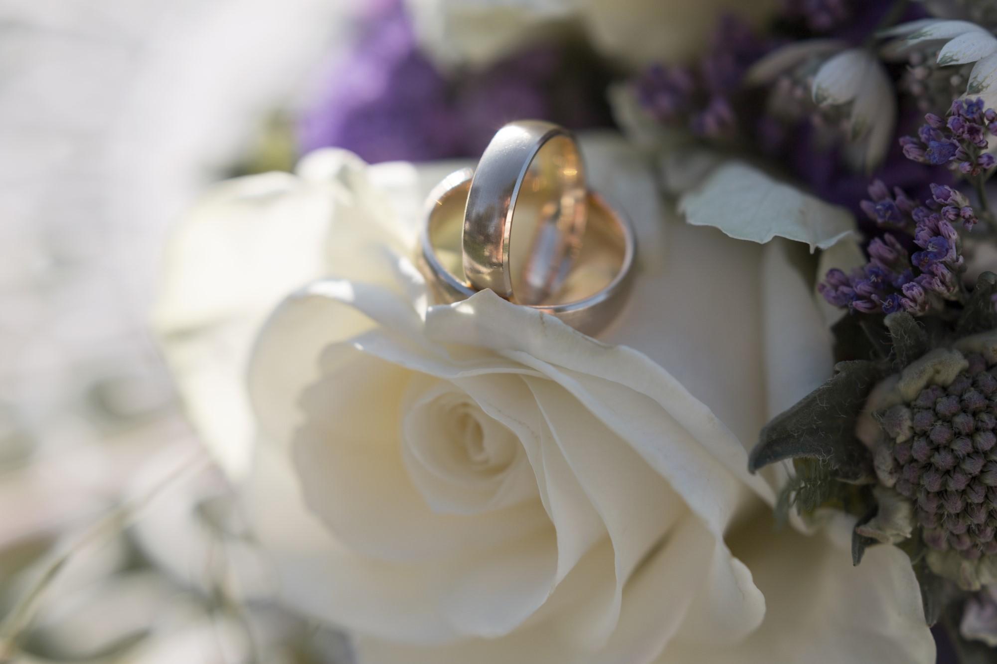 Detailfotografie Ring auf Rosen
