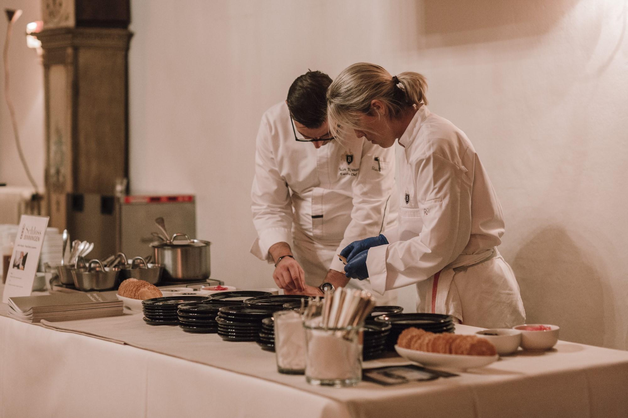 Julien Krauss und Team bei der Kitchen Party