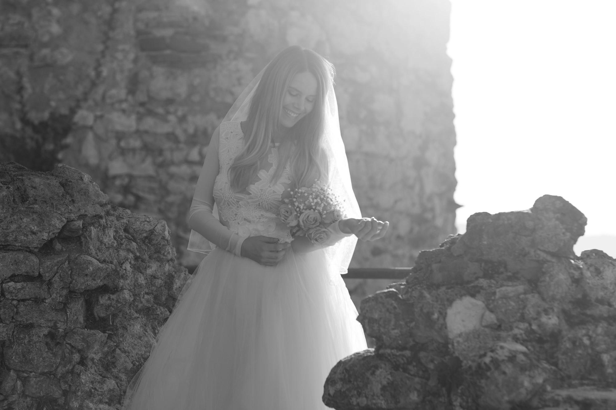 Braut Fotoshooting auf der Ruine Dorneck