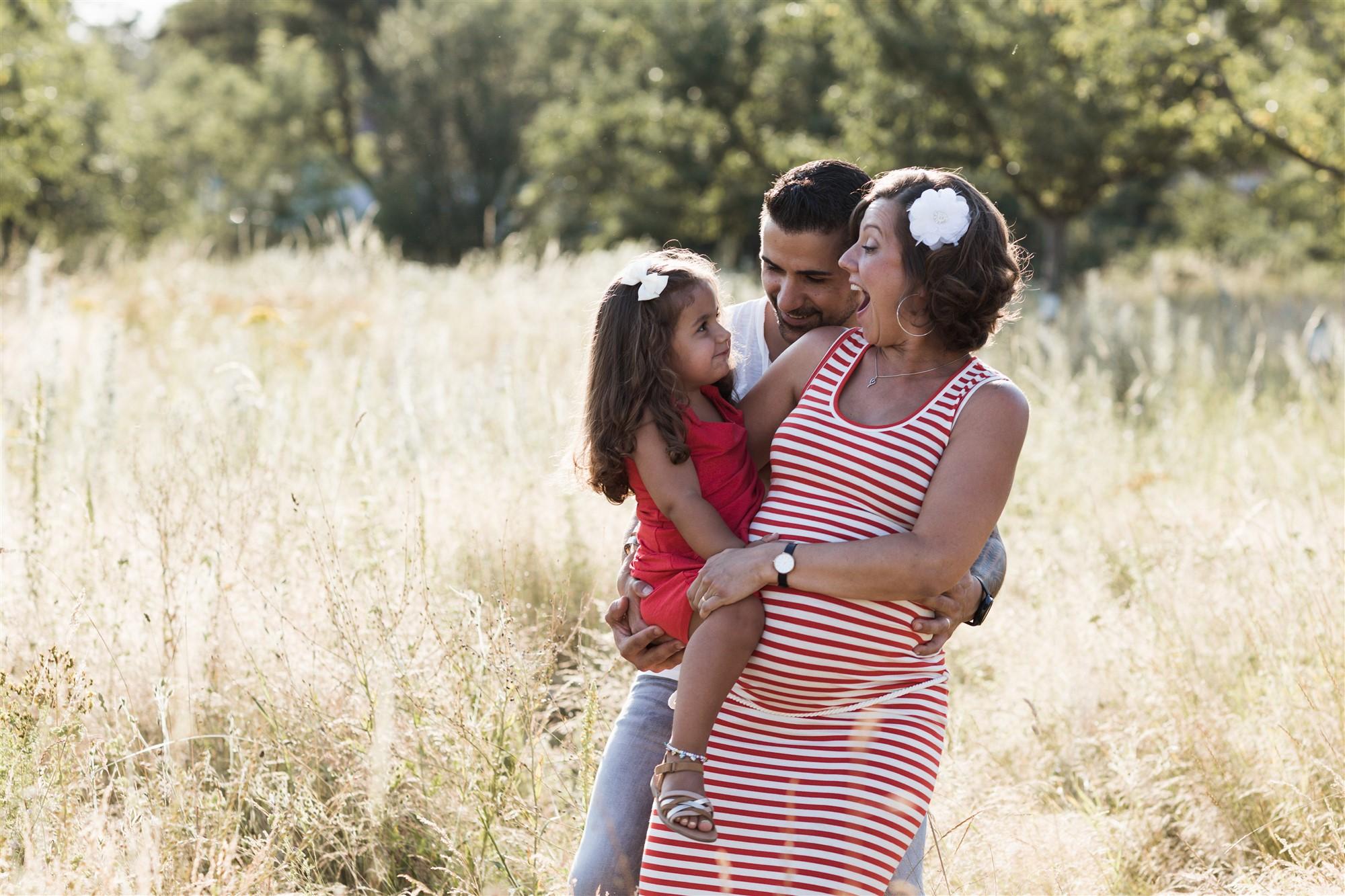 Familien Fotoshooting in der Natur