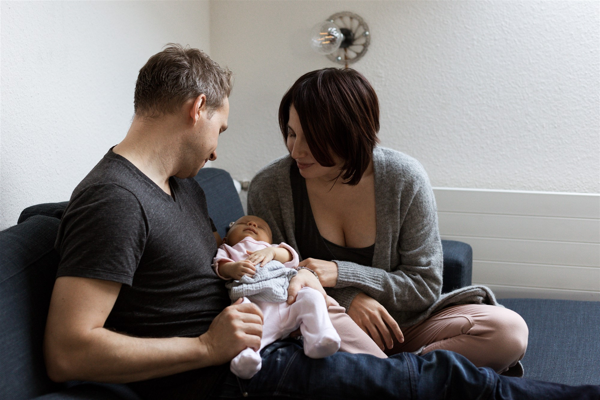Newborn Homestory Fotoshooting in Basel