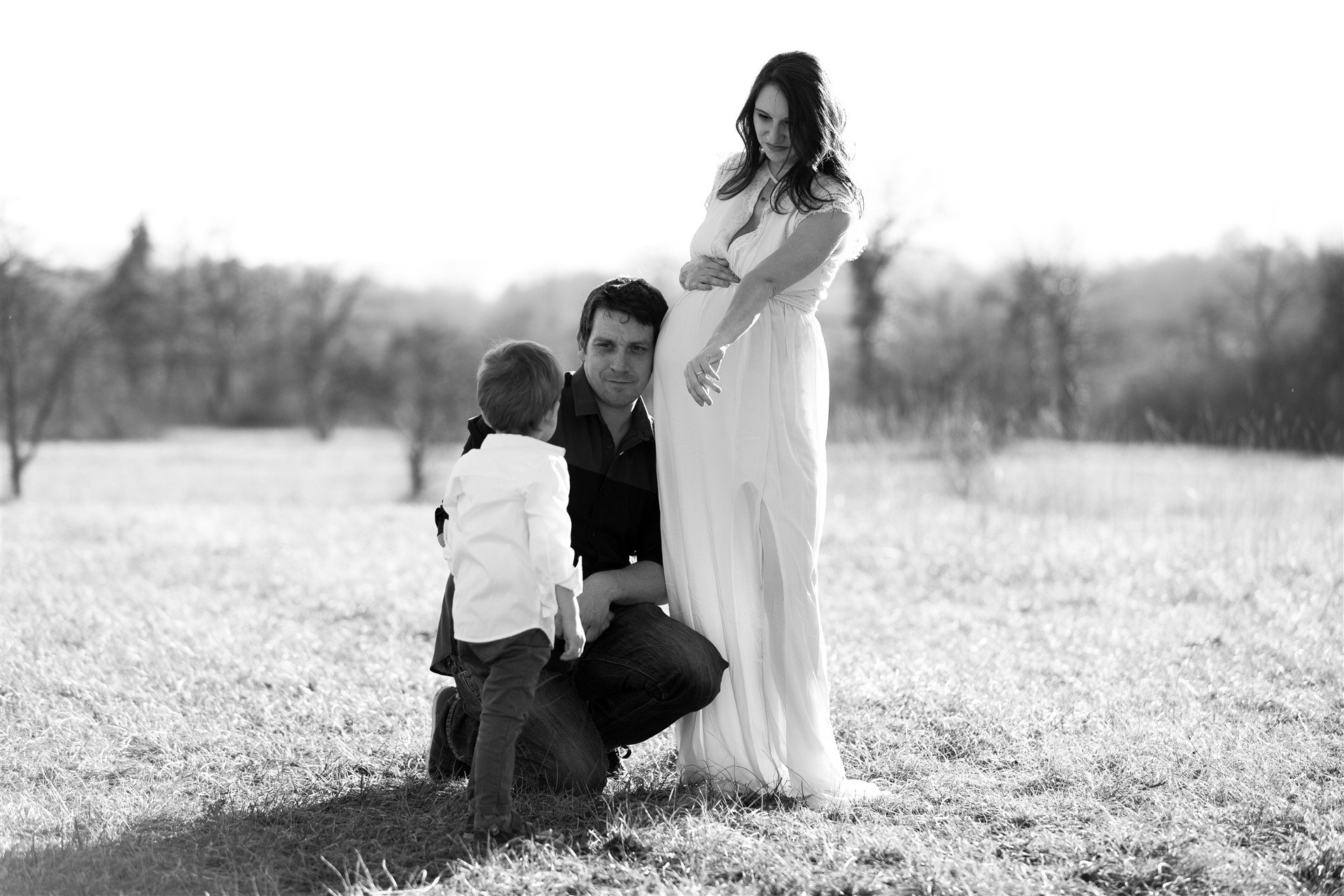 Die bezaubernde Familie beim Fotoshooting in Basel