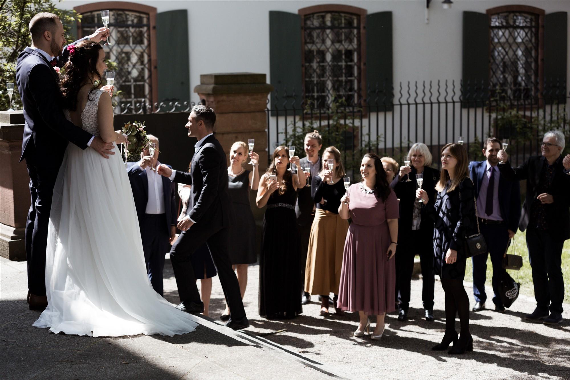 Hochzeitsapero beim Standesamt in Basel