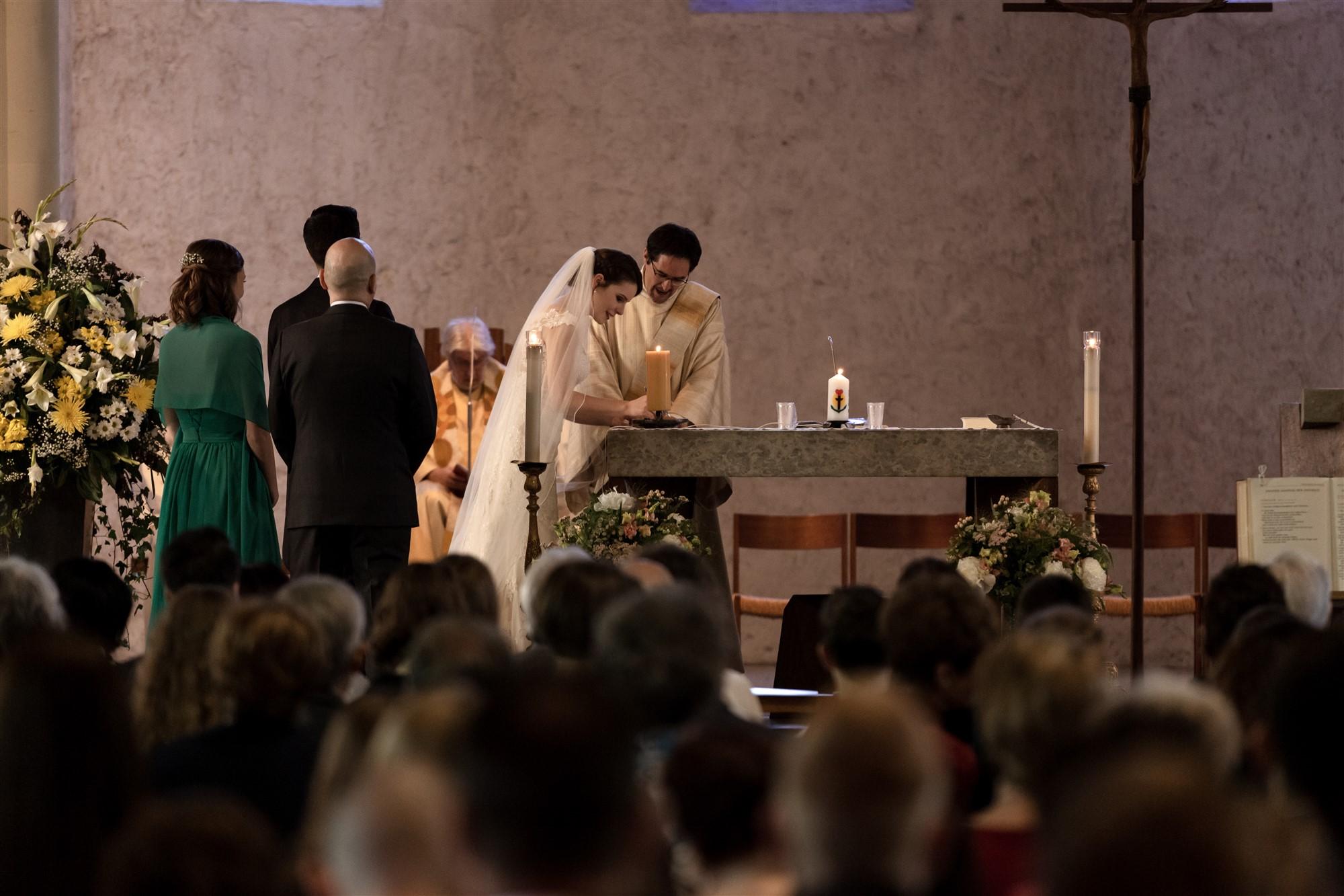 Hochzeit in der Kirche in Oberwil