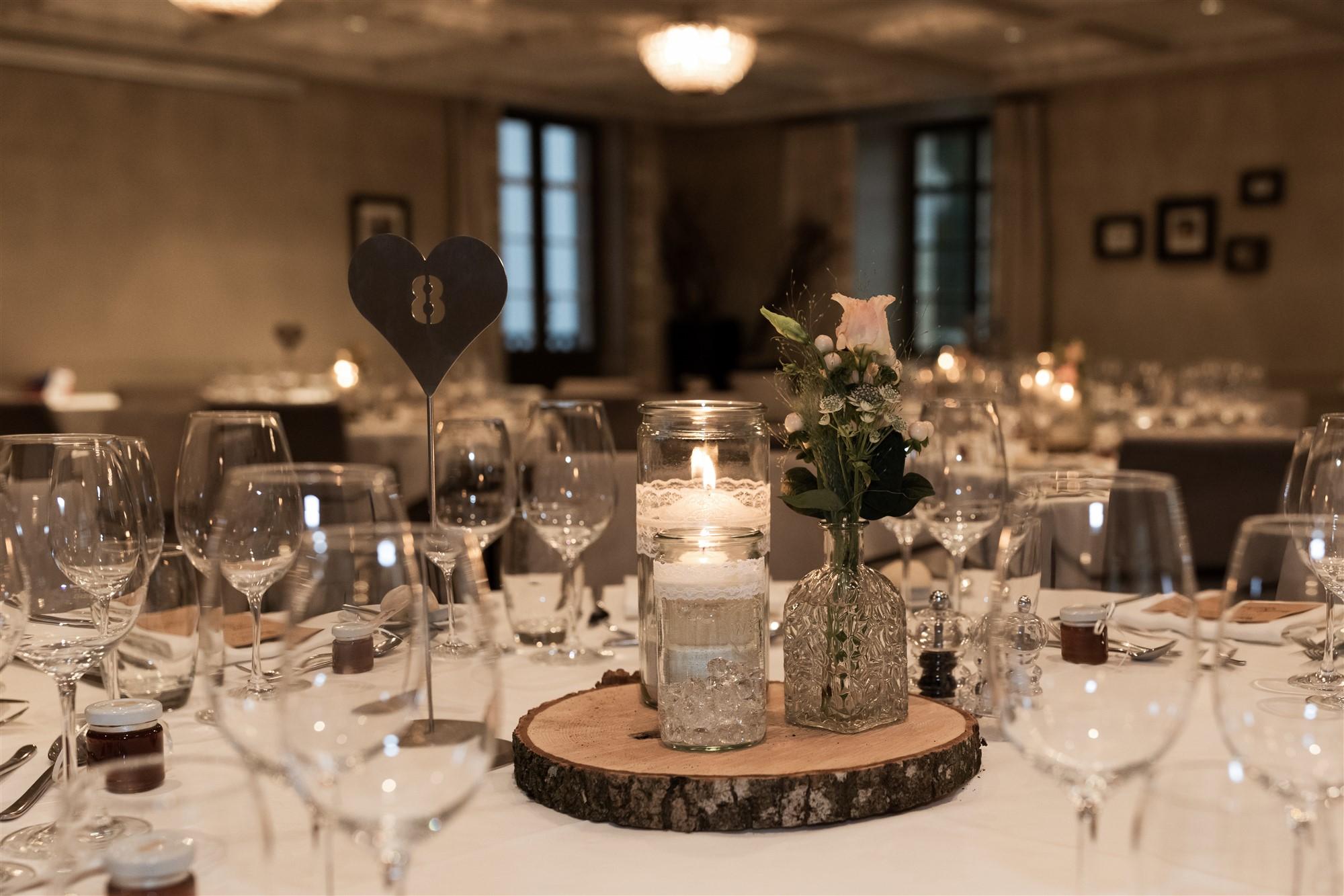 Hochzeitsdekoration im Bad Bubendorf