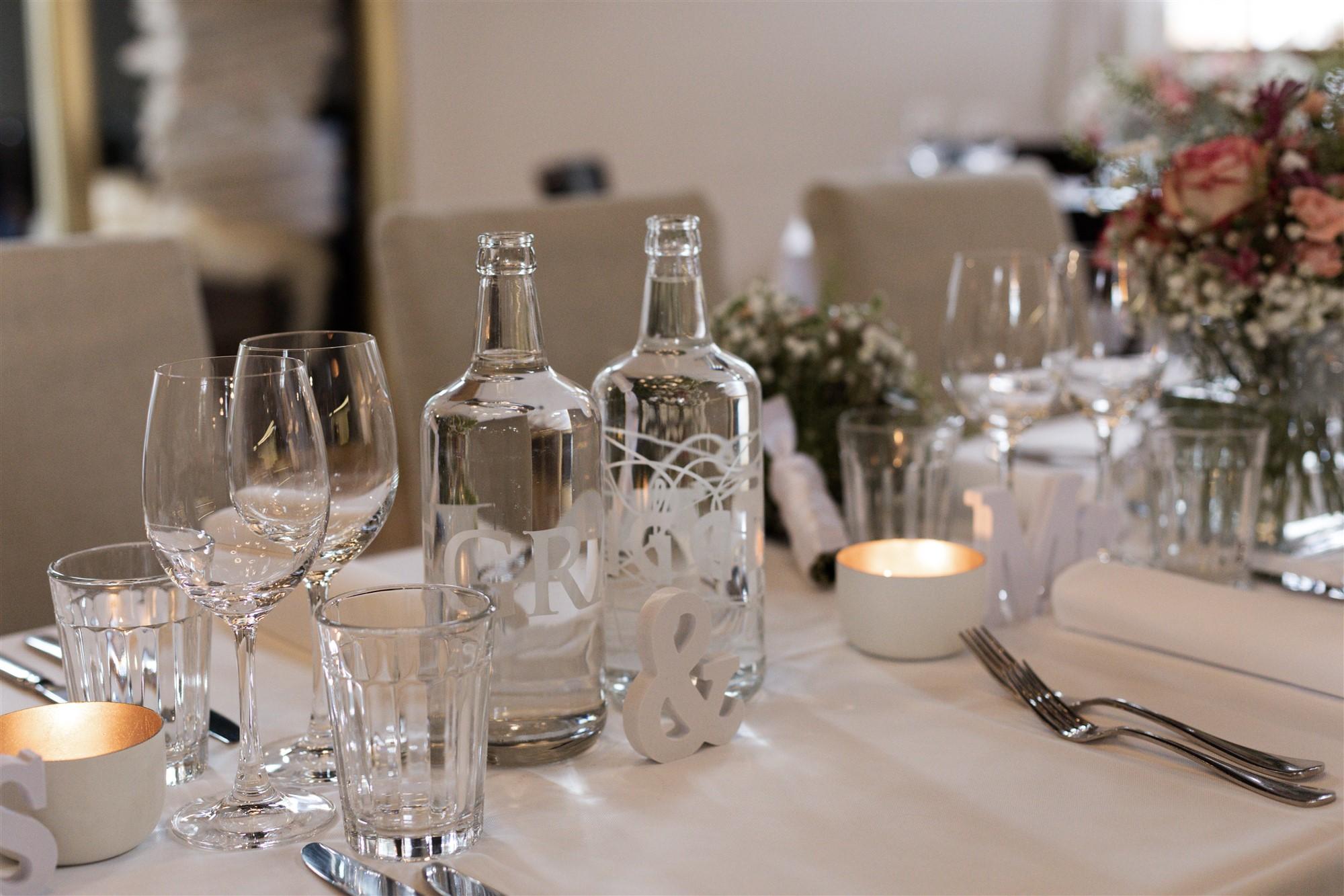 Hochzeitsdekoration in der Bistro Reithalle in Riehen