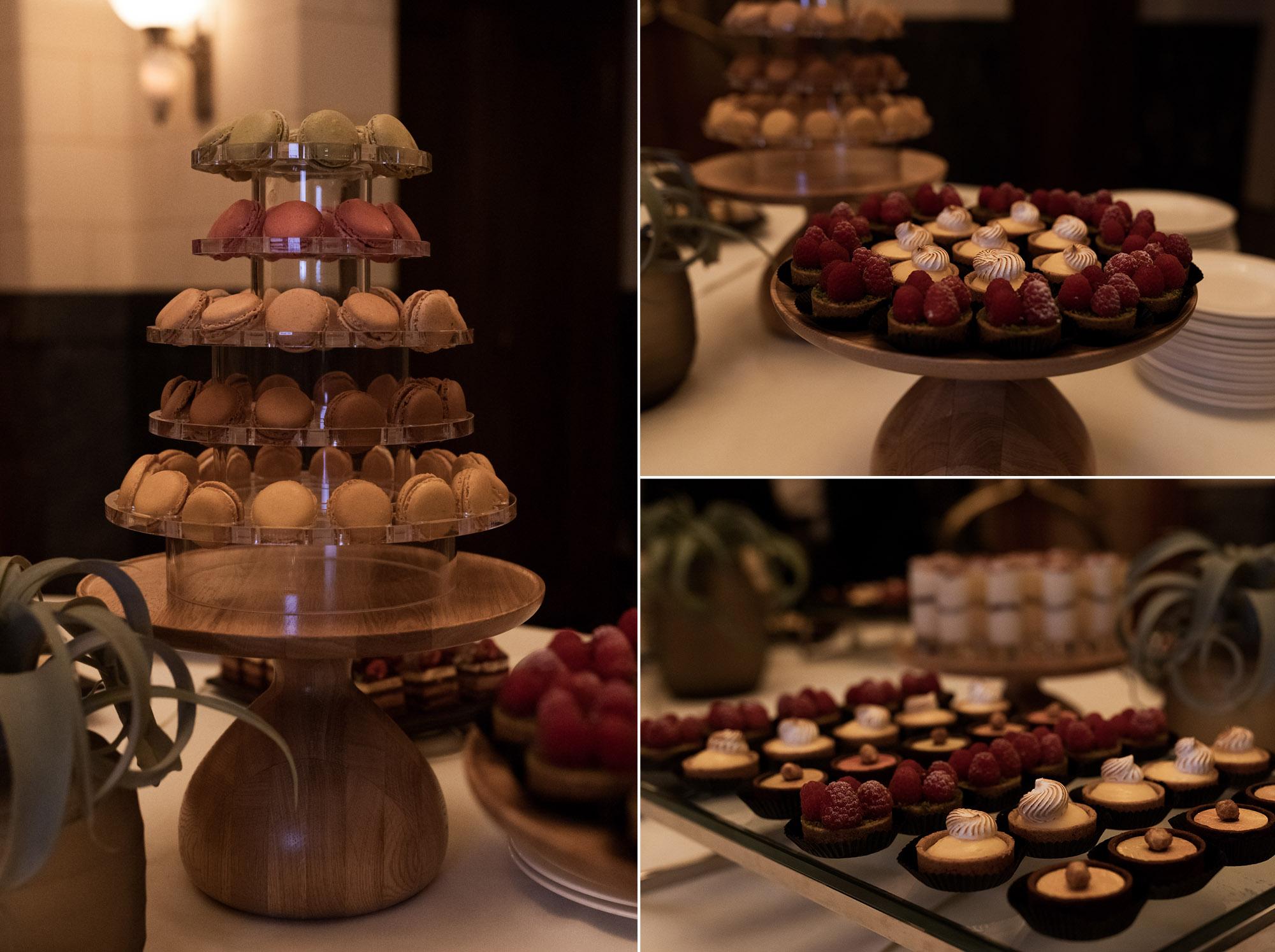 Das Hochzeitsfest im Grand Hotel Les Trois Rois - Die Dessertbuffet - Hochzeitsfotograf Basel