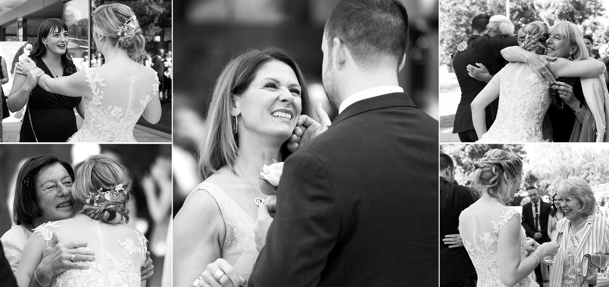 Freie Trauung im Hirzen Pavillon - Gratulationen der Gäste - Hochzeitsfotograf Basel