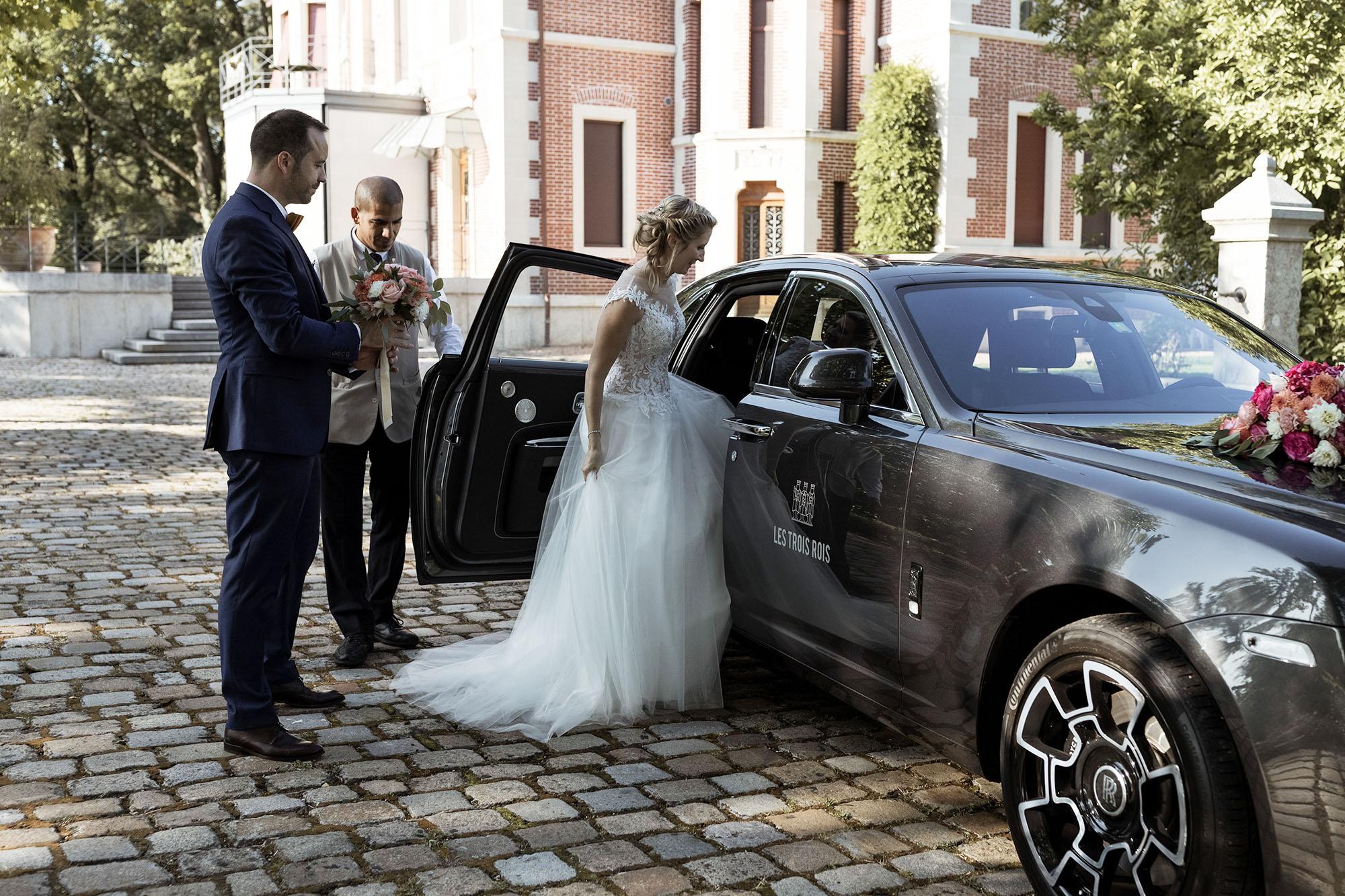 Hochzeit Hirzen Pavillon Riehen - Abfahrt zum Fest am Abend