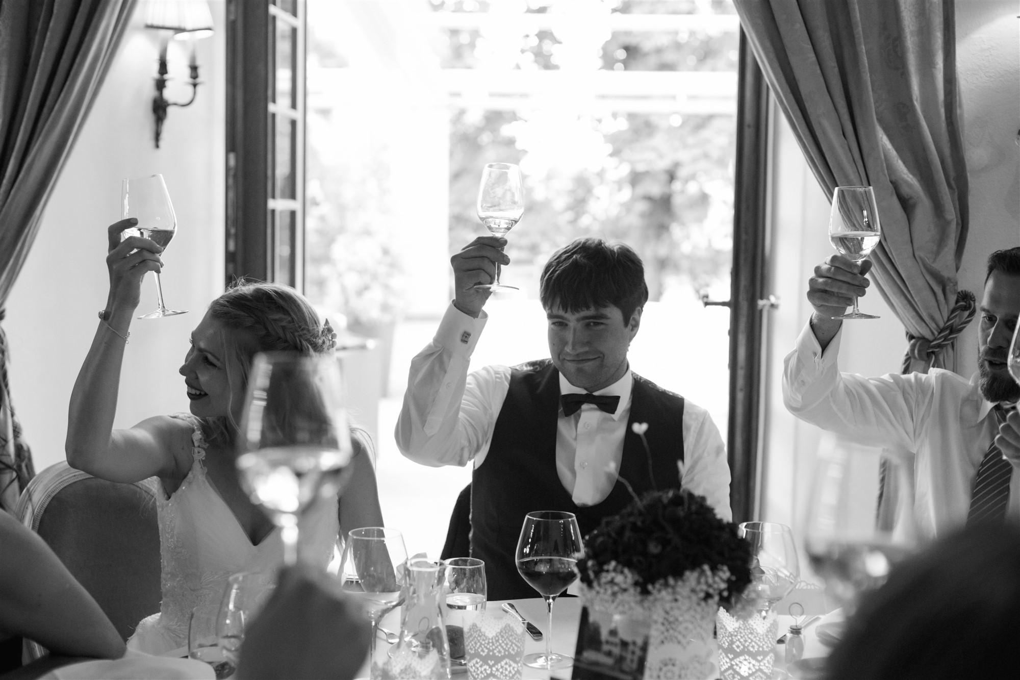 Ein Hoch auf das Brautpaar