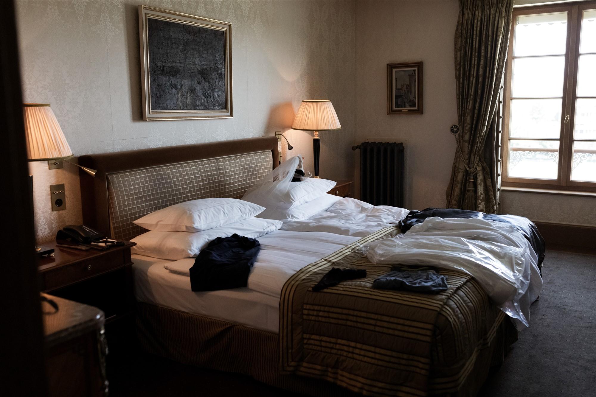 Hochzeit Grand Hotel Les Trois Rois Basel Hotelzimmer