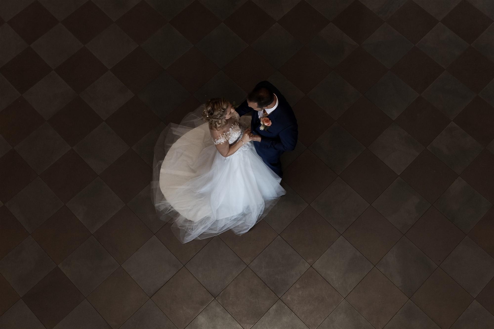 Hochzeit im Grand Hotel Les Trois Rois - Brautpaar Fotoshooting