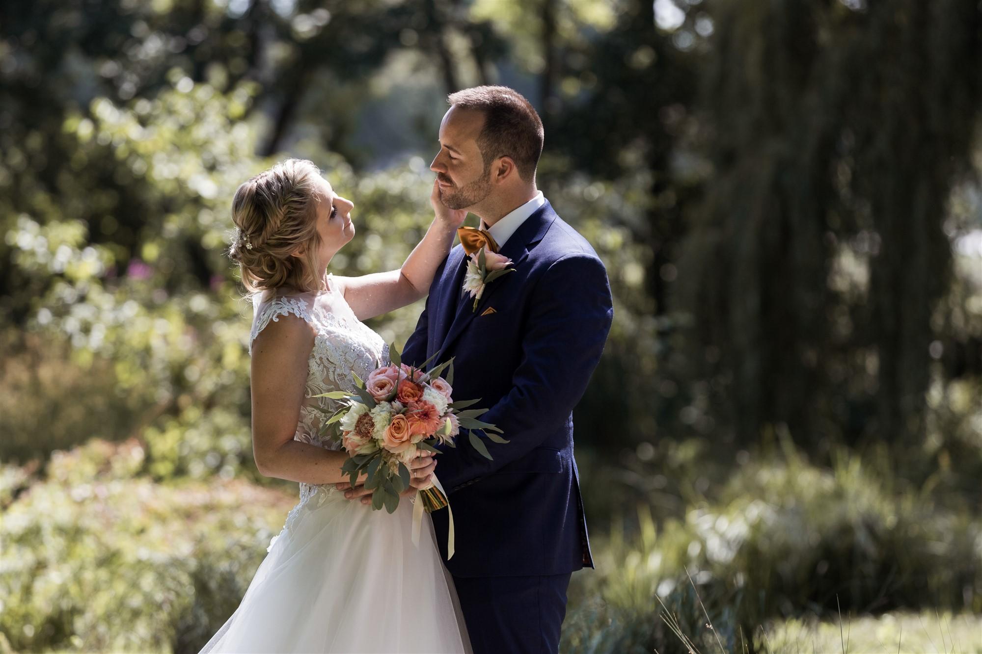 Hochzeit im Hirzen Pavillon - Das Brautpaar Fotoshooting in der Natur
