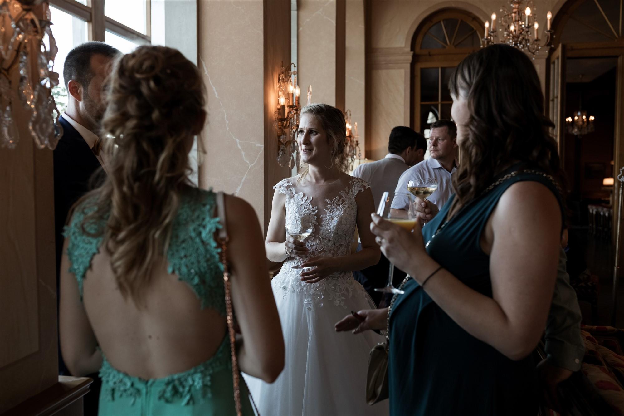 Hochzeit im Grand Hotel Les Trois Rois - Hochzeitsapero - Hochzeitsfotograf Basel