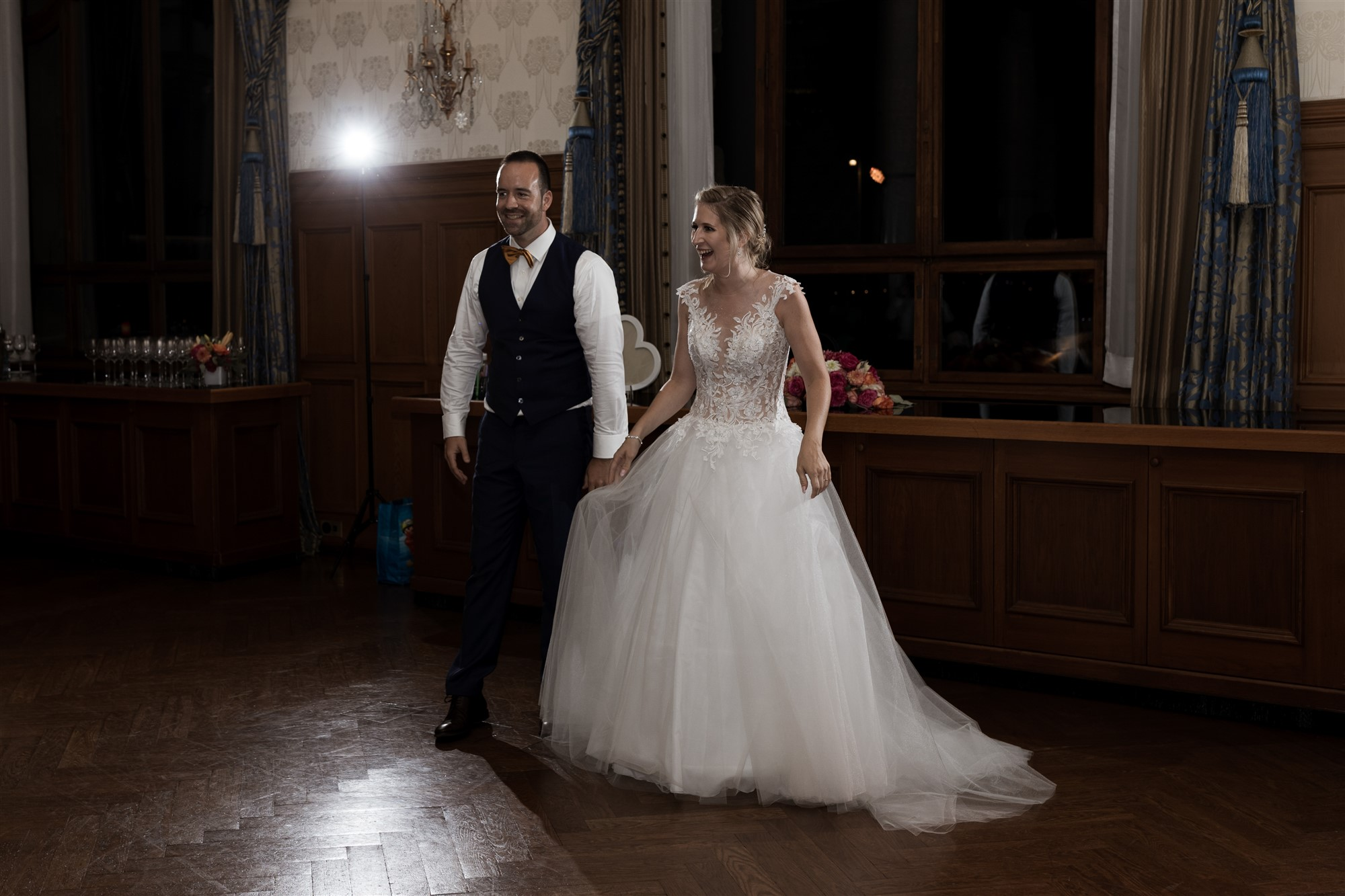 Das Hochzeitsfest im Grand Hotel Les Trois Rois - Location - Hochzeitstanz - Hochzeitsfotograf Basel