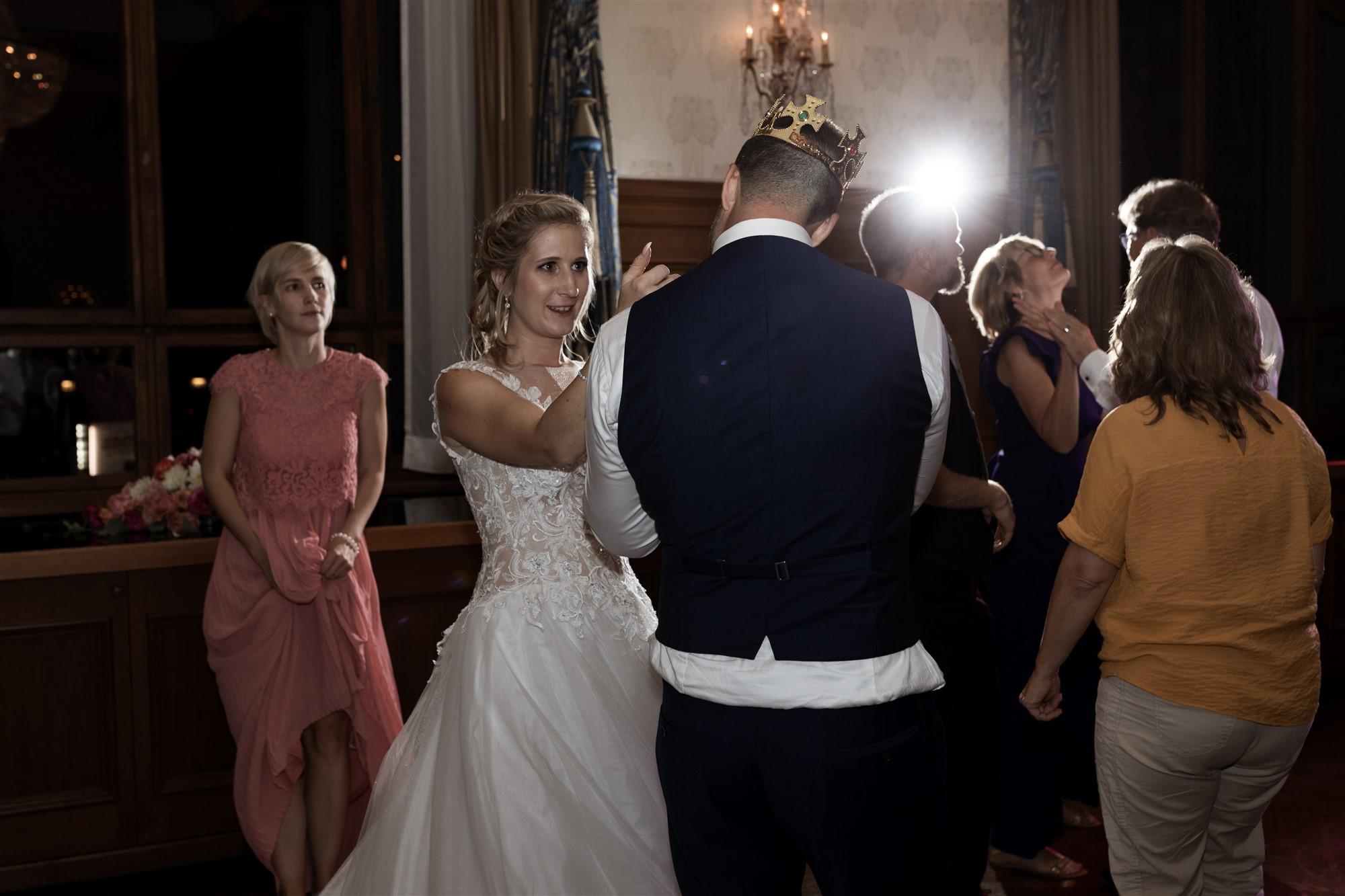 Das Hochzeitsfest im Grand Hotel Les Trois Rois - Die Hochzeitsparty - Hochzeitsfotograf Basel
