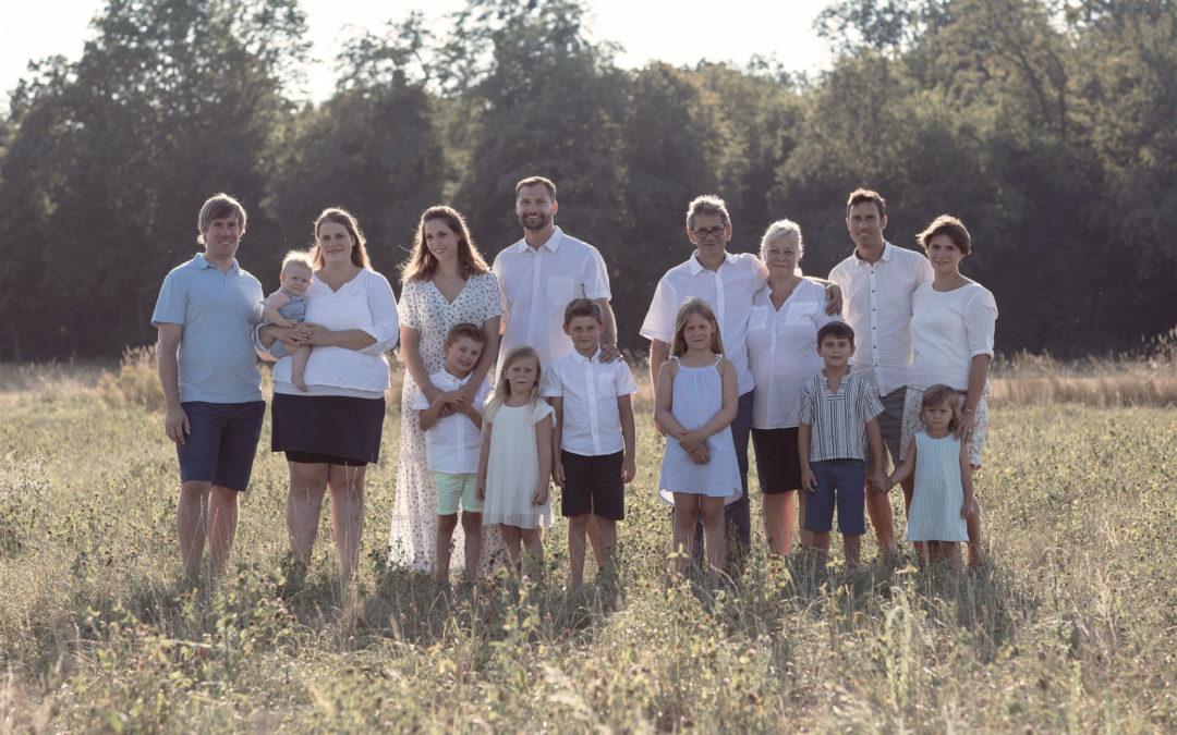 Grossfamilien Fotoshooting