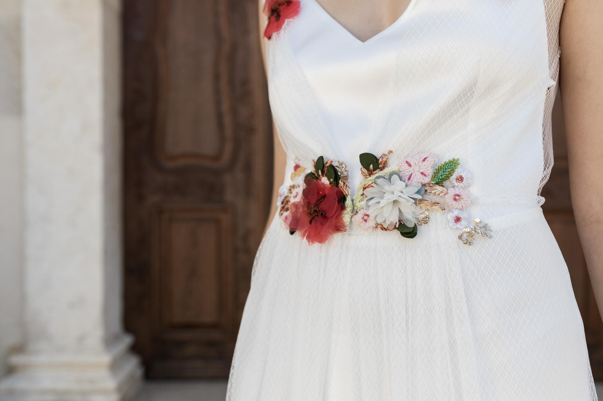 Detailbild vom Brautkleid