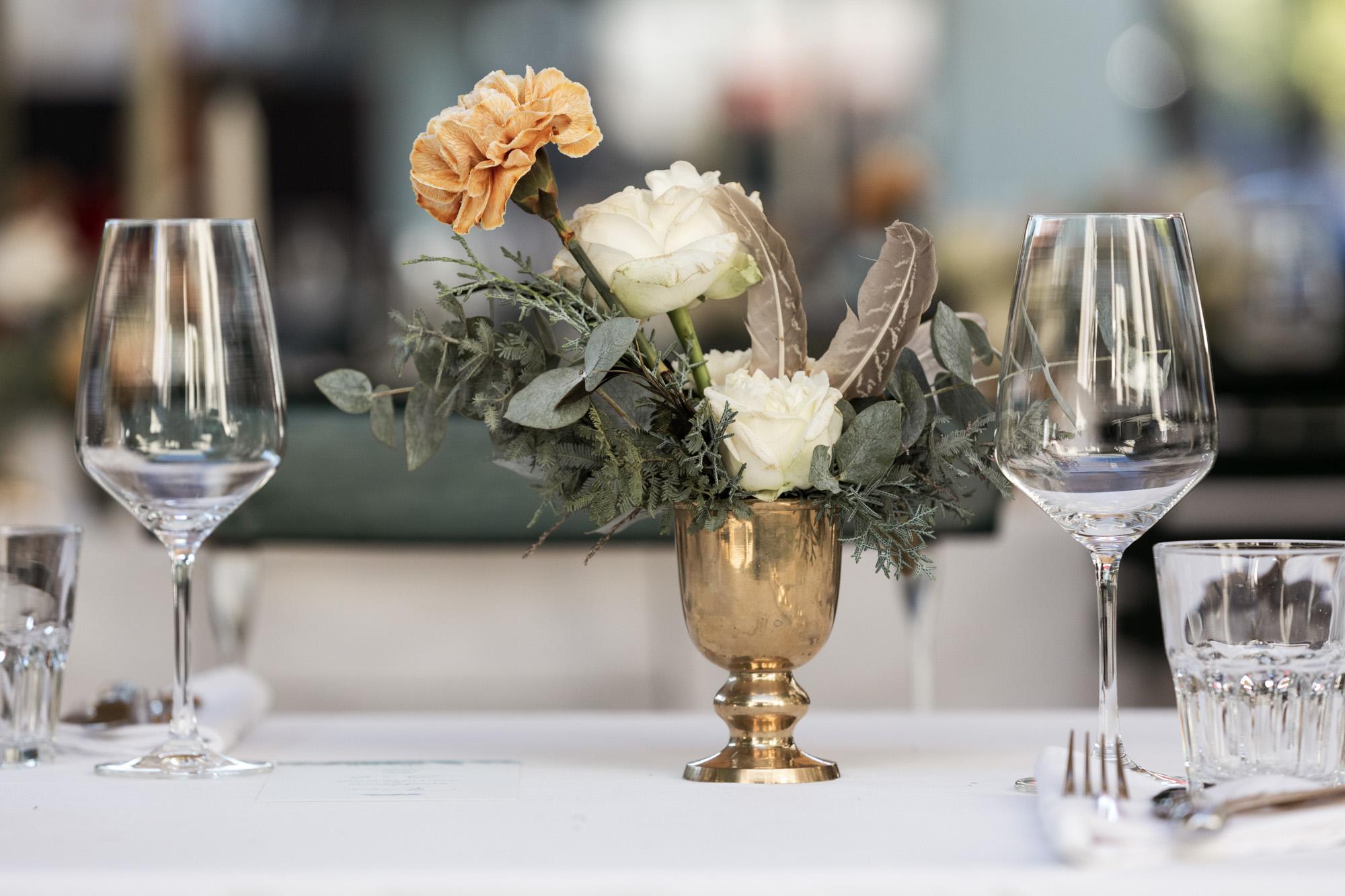 Hochzeit im Turbinenhaus in Basel - Hochzeits Tischdekoration