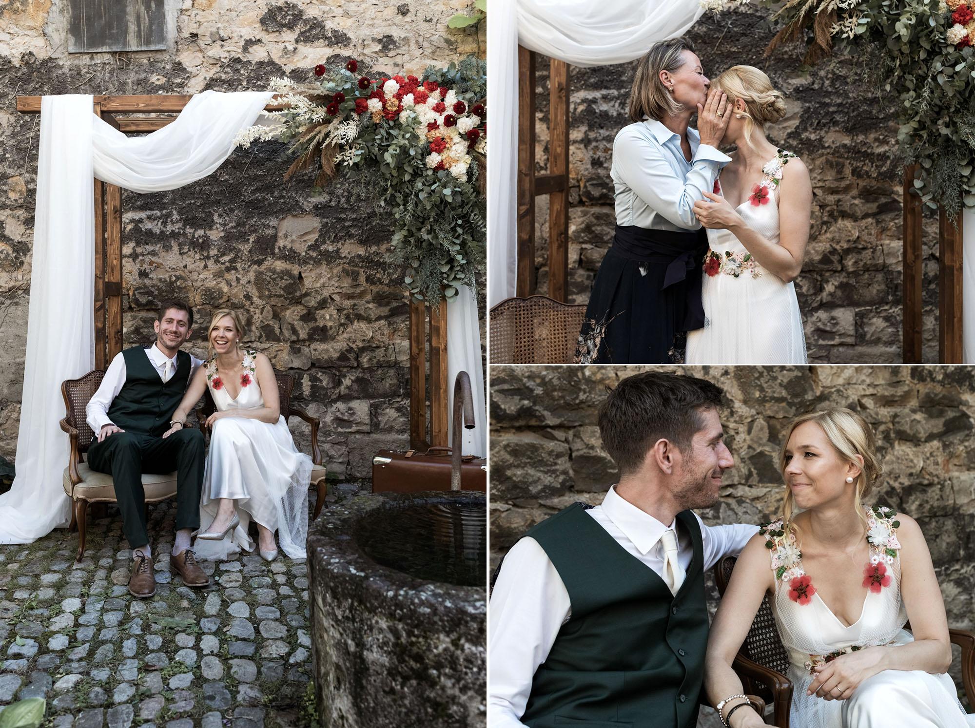 Hochzeit im Turbinenhaus in Basel - Hochzeitsbilder vor dem Traubogen