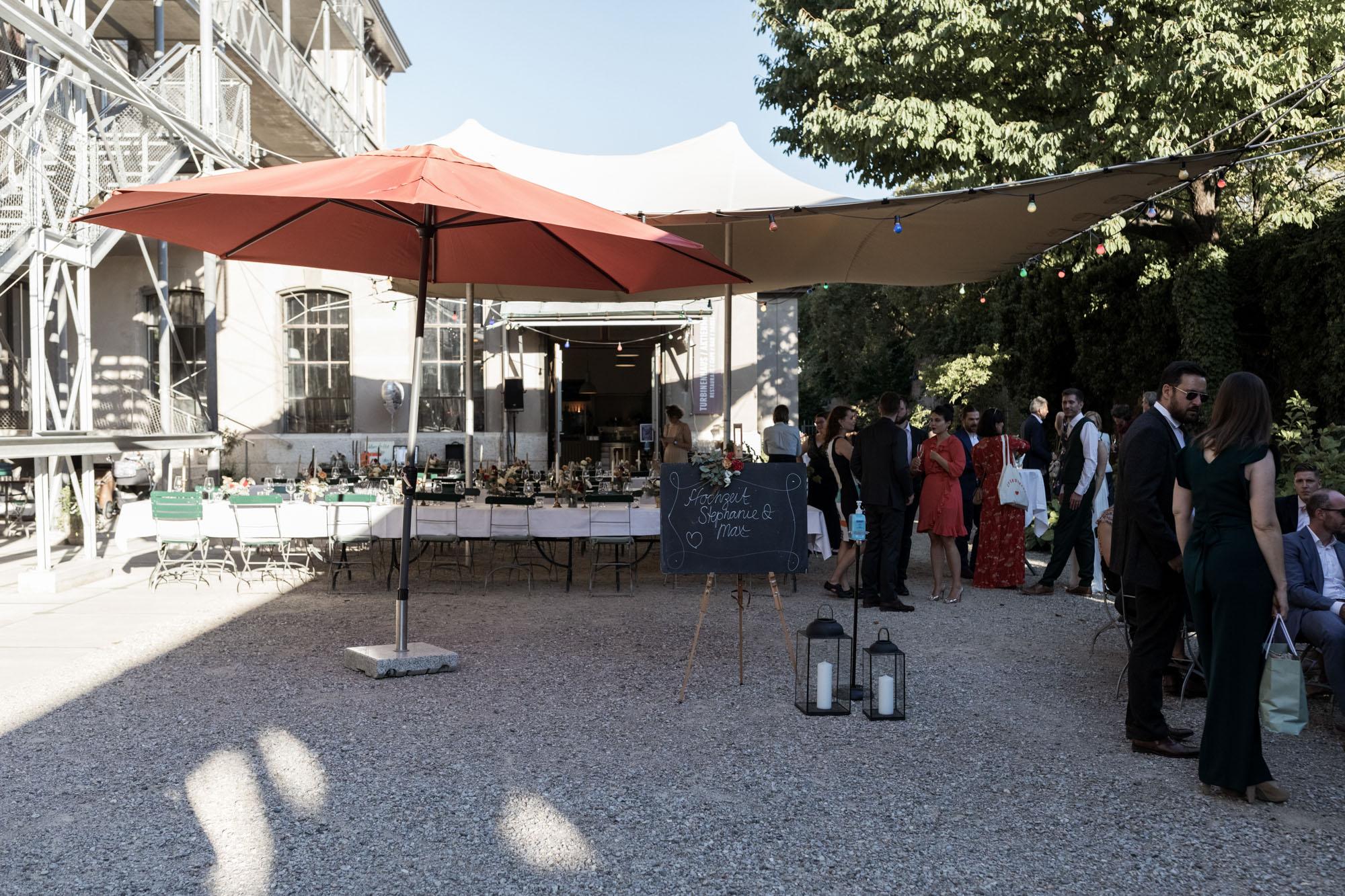 Hochzeit im Turbinenhaus in Basel - Hochzeitsfest Impressionen