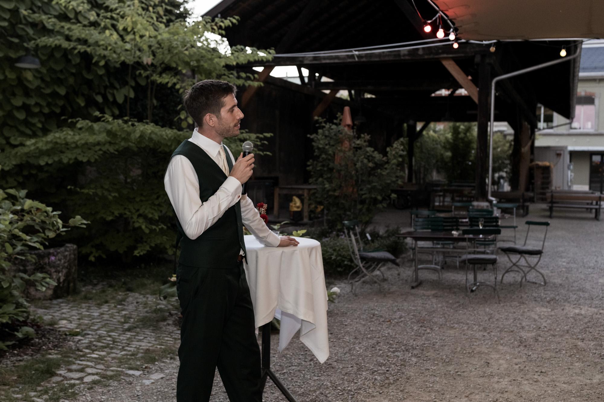 Hochzeit im Turbinenhaus in Basel - Der Bräutigam
