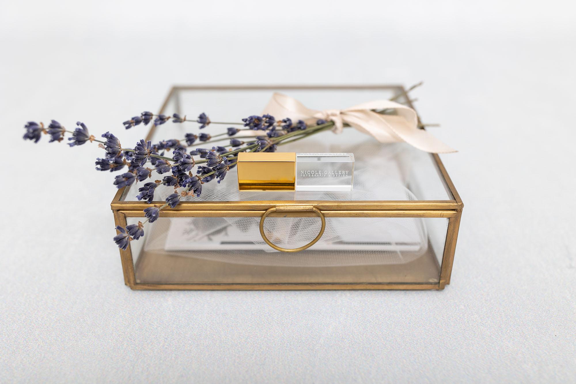 Hochzeitsbox Fotografie - Geschenkbox aus Glas für meine Brautpaare - Fineart Prints - USB Stick