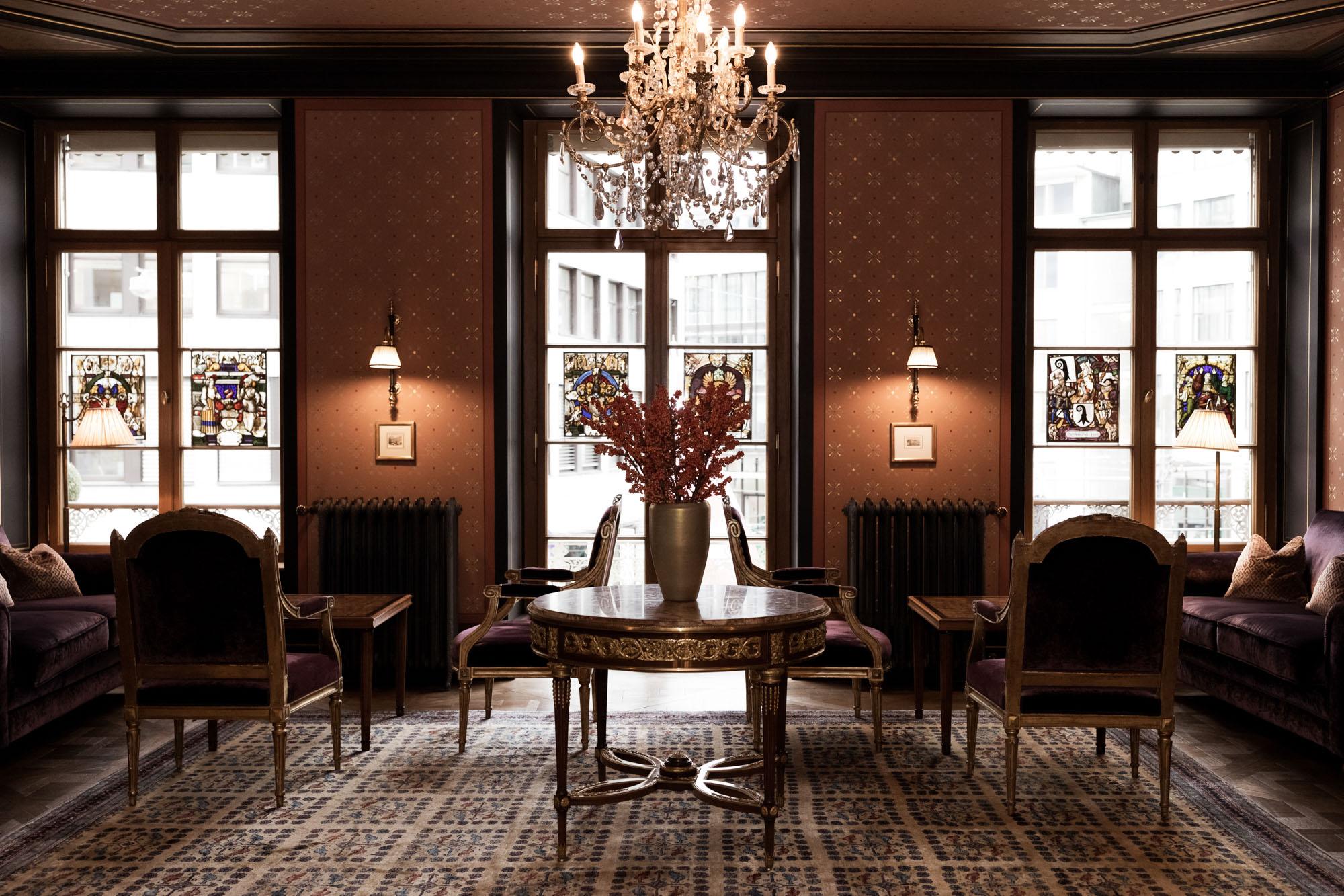 Hochzeit im Grand Hotel Les Trois Rois Basel - Bibliothek