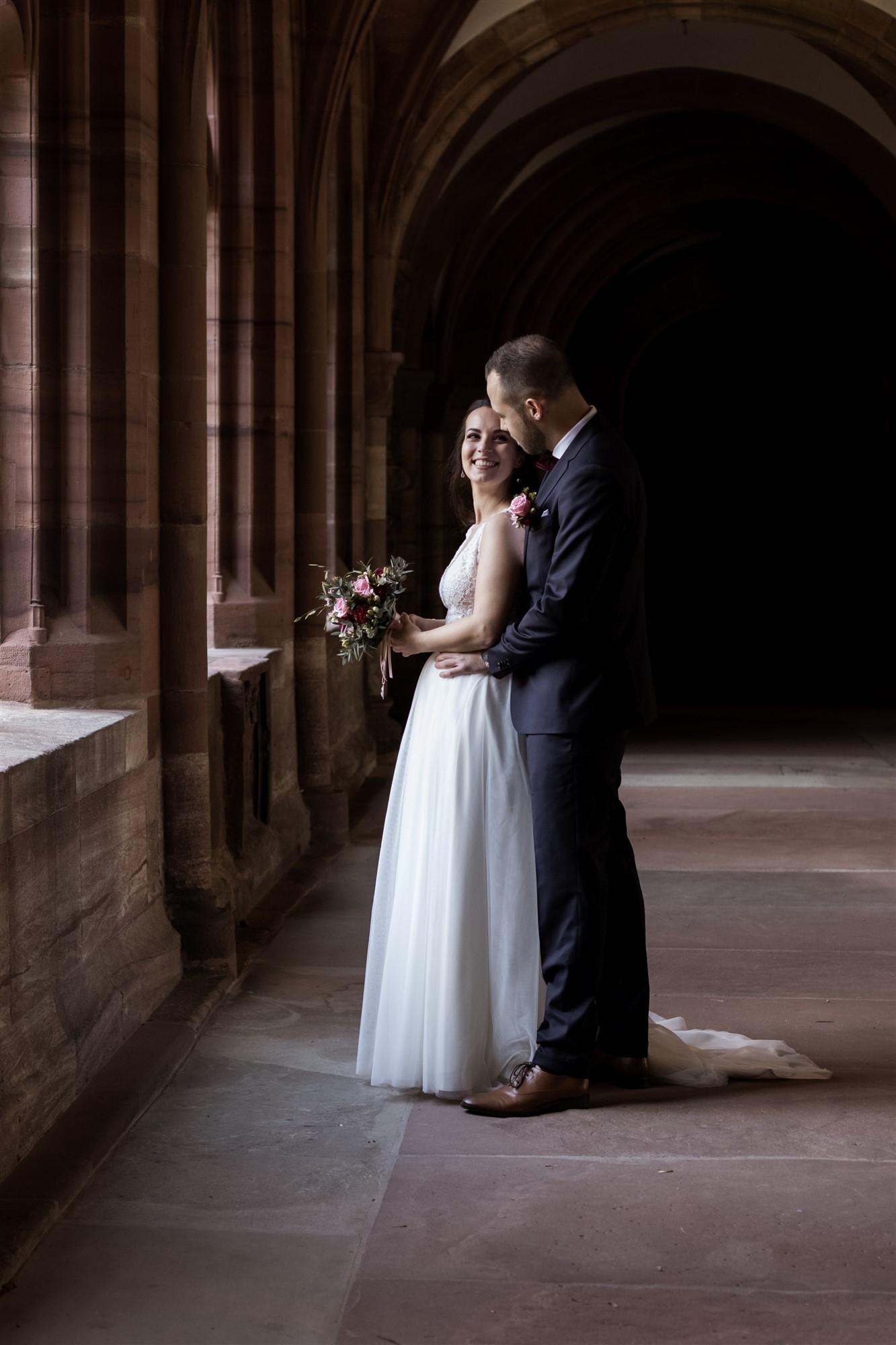 Brautpaar Fotoshooting im Basler Münster