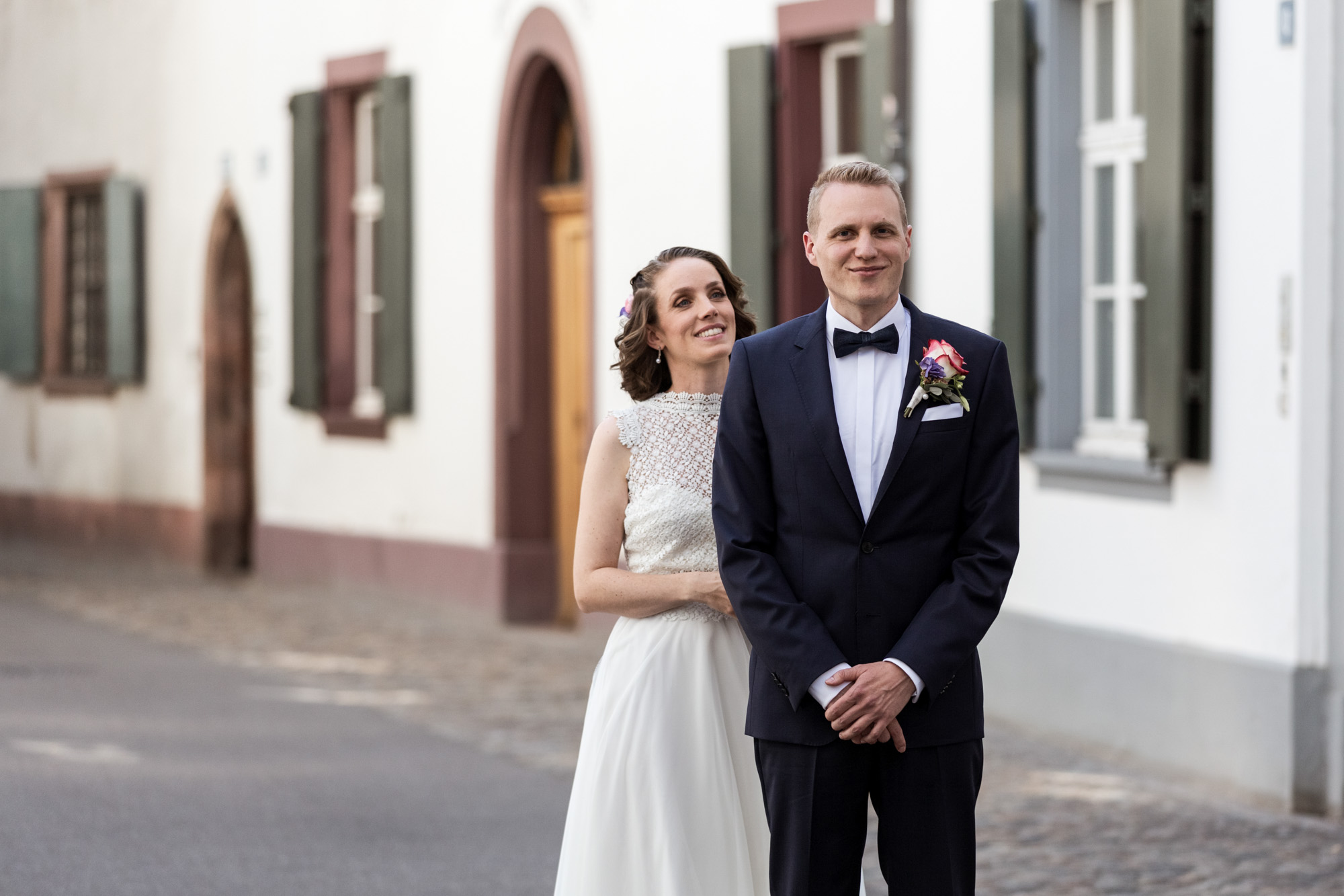 First Look des Brautpaares in Basel - Hochzeit - Hochzeitsfotografen Basel