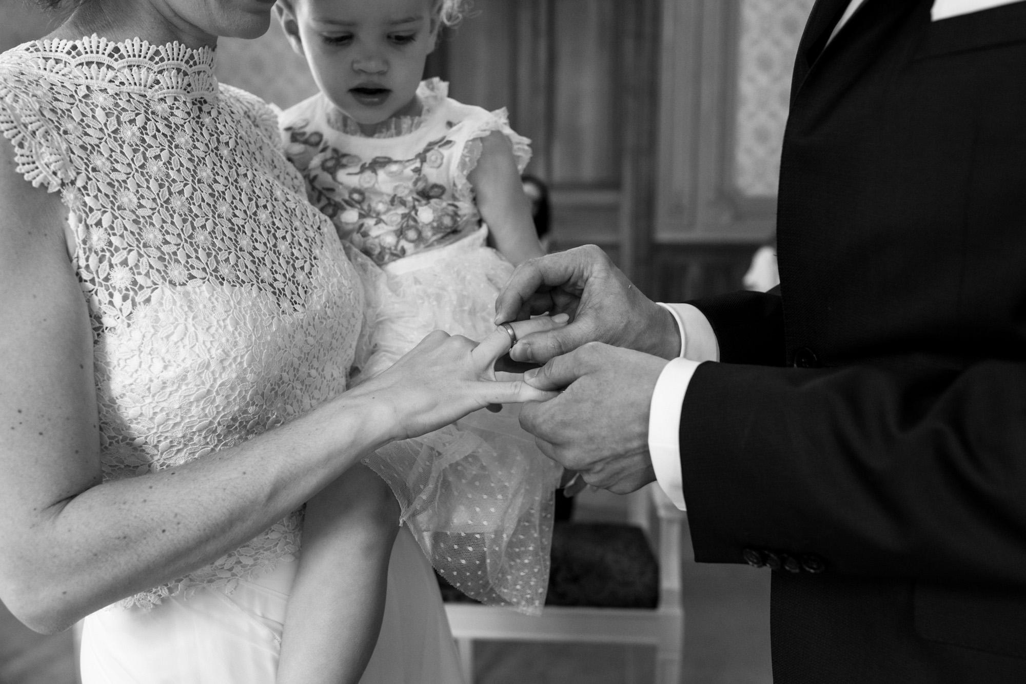Der Ringtausch - Hochzeitsfotografen Basel