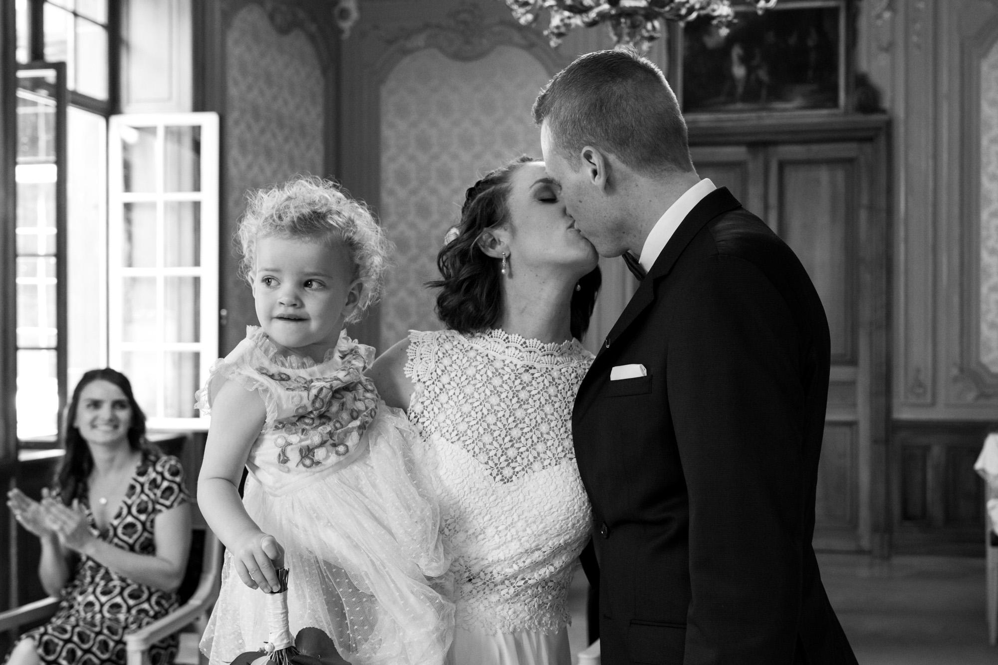 Der Kuss - Hochzeitsfotografen Basel